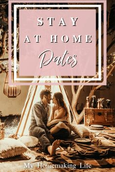 Start dating again with these stay at home dates! We don't always get to go out, but that doesn't mean dating is no longer important. These are 10 Stay At Home Date Ideas to spice up your marriage! date night ideas at home Indoor Date Ideas, Creative Date Night Ideas, Unique Date Ideas, Date Ideas For New Couples, Couple Ideas, At Home Dates, At Home Date Nights, Activities For Adults, Family Activities