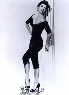Ava Gardner in a killer jumpsuit 1950's.