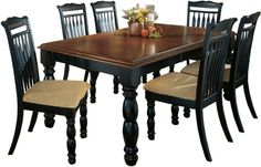 I'm going to sand and stain my dinning room table to look something like this!