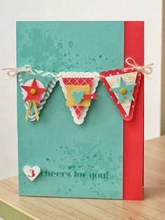 by Karen Thomas, Luv To Stamp: Bright And Fun Banners!