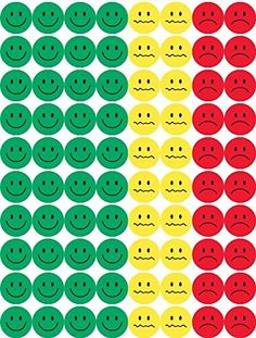 """Hygloss Products Visual Behavior Stickers - Incentive Stickers for Students & Kids - Fun Traffic Light Colors - Red, Yellow & Green - ½"""" Stickers - 15 Sheets - 1200 Stickers Per Pack Classroom Behavior Management, Classroom Rules, Teaching Kids, Kids Learning, Token Economy, Face Stickers, Charts For Kids, Behaviour Chart, Kids Education"""