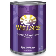 Wellness Complete Health Natural Wet Canned Dog Food Chicken & Sweet Potato 12.5-Ounce Can (Pack of 12)