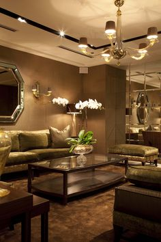 Living Room Decorating Ideas on a Budget  - .mirrored squares, speaker in the corner
