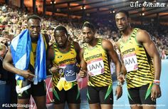 The Jamaica 4x100 Men's Team at the 2014 Commonwealth Games