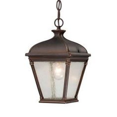 Hampton Bay Malford Hanging Outdoor Dark Rubbed Bronze Lantern-HD490744 at The Home Depot