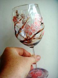 Sakura Blossom Wine Glasses