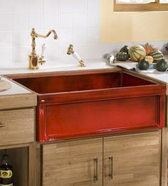Red kitchen sink for the home pinterest red kitchen sinks and everything red including the kitchen sink workwithnaturefo