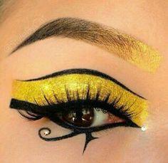#eyes #makeup #egipcio #dorado #árabe