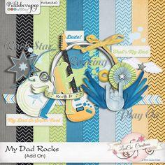 My Dad Rocks Add On #louceecreations #digiscrap #digitalscrapbooking
