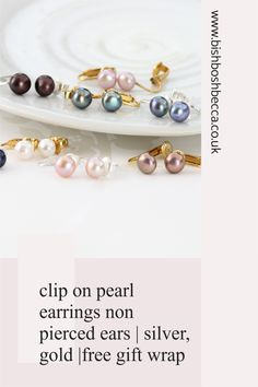 If you are having problems finding clip on pearl earrings, if you have unpierced ears, Have a look at these classic pearl stud earrings made especially for non pierced ears. Clip On Pearl Earrings, Women's Earrings, Earrings Handmade, Handmade Jewelry, Earring Display, Pearl Studs, Cultured Pearls, Gift Wrap, Ear Piercings