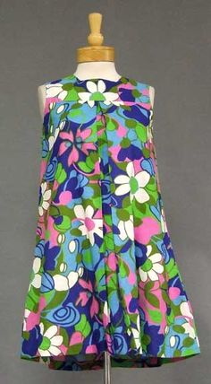 I would definitely wear this fabric!!  fran 1960's tent dress.  Love this!!