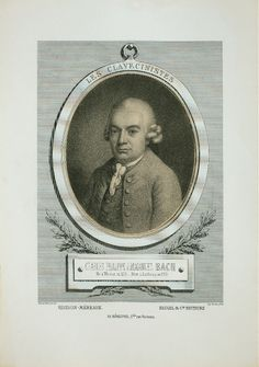 "Johann Sebastian Bach (1685-1750), lithograph (1867), by Alfred Lemoine (1824-1881), published in ""Les clavecinistes de 1637 à 1790"", volume 1, facing page 44, after a pastel (1773), by Johann Philipp Bach (1752-1846)."