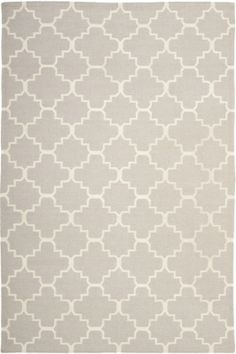 Safavieh Dhurries DHU-554 Grey / Ivory (G) Area Rugs
