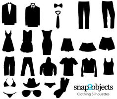 Free Clothing Vector Silhouettes | Download Free Vector Apparel Templates