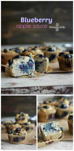 blueberry apple sauce muffins made with coconut flour