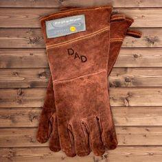 Custom Branded Leather BBQ Grilling Gloves