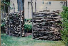 paradis express: Brush fence by Deborah