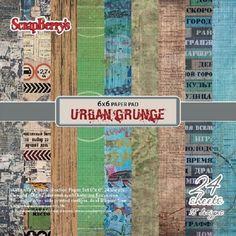 Urban Grunge - Kit de 12 Papiers 30x30cm | La Boit'A Scrap : La caverne aux merveilles pour les passionnés de Scrapbooking