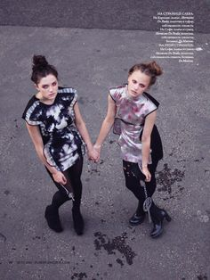 Caroline Buist & Sophie Dillon | Nicole Maria Winkler #photography | Playing Fashion Summer 2010 | via tumblr