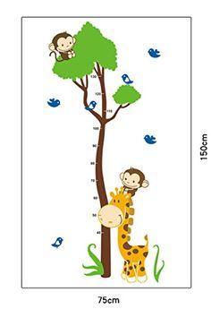 Amazing Affe Baum Growth Chart Ma band Messlatte Wandtattoo Wandaufkleber Wandsticker Kinderzimmer Geschenk Bogen Gr