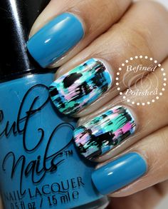 Twinsie Tuesday ~ Grunge Mani - Refined & Polished