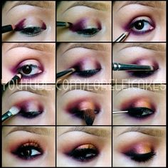 Yass. 1.Outline corners/under- nightmoth pencil 2.Smudge-219brush 3..line waterline 4.. Add sketch in corners to darken. 5..fade out- 217brush & nocturnelle. 6.. Tap pink bronze pigment in center. ...line. Your turn #loreleicakes - @Lorelei Cakes- #webstagram