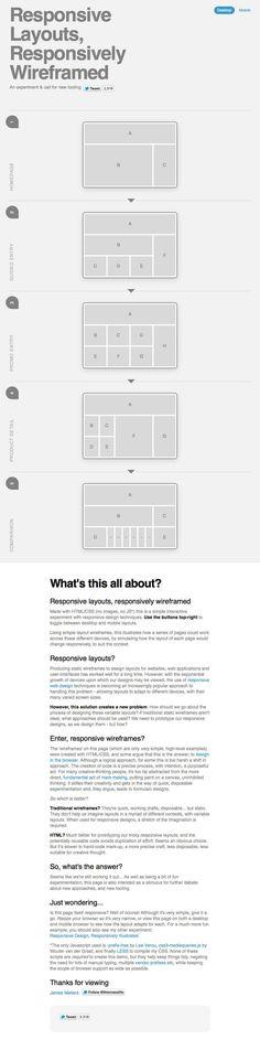 Et quand mon site s'affiche sur un écran mobile, que se passe-t-il ? Comment mes contenus sont-ils réorganisés ? Ce schéma interactif vous permet de découvrir en un clic le passage d'un grand écran d'ordinateur à un écran mobile et ses implications sur l'organisation des blocs de contenus. [Infographie - James Mellers]. If you're a user experience professional, listen to The UX Blog Podcast on iTunes.