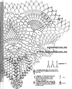 Красивые салфетки крючком схемы Crochet Potholders, Crochet Doilies, Pineapple Crochet, Thread Crochet, Table Covers, Mandala, Anna, Crochet Tablecloth, Doilies Crochet