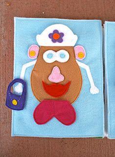 Sunshine, Lollipops, and Rainbows: Mr. Potato Head - Quiet book pages 10 & 11