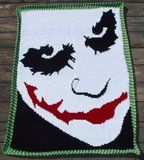 The Joker-Heath Ledger Afghan - no pattern.   Graph pattern may be obtained through knitpro.
