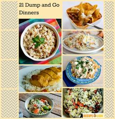 Dump and Go Dinner: 21 Easy Weeknight Dinner Ideas - Easy dinner ideas for when you're feeling lazy! Includes easy dinner recipes with beef, chicken recipes, and simple side dish recipes.