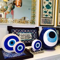 Evil Eye Art, Greek Decor, Teal Eyes, Spiritual Decor, Home Goods Store, Mirror Painting, Mini Canvas Art, Ramadan Decorations, Hippie Home Decor
