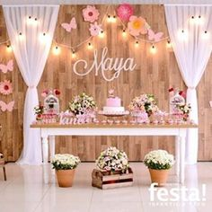 Exceptional diy hacks information are available on our internet site. Read more and you wont be sorry you did. Baby Girl Shower Themes, Girl Baby Shower Decorations, Butterfly Birthday Party, Baby Birthday, 80th Birthday Party Decorations, Baby Shower Background, Simple Baby Shower, Maya, Laurel Leaves