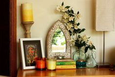 Mirror, flowers and colours... Copyright of http://monsoonspice.com