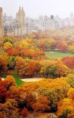 Nueva York y otoño, combinación impecable. Love it so much...