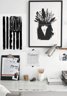 wall behind desk, creativity +