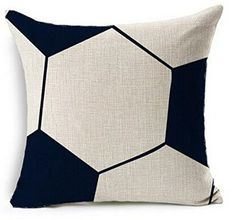 Simple Soccer Ball Design Throw Pillow Case Personalized Cushion Cover NEW Home Office Decorative Square 18 X 18 Inches ¡