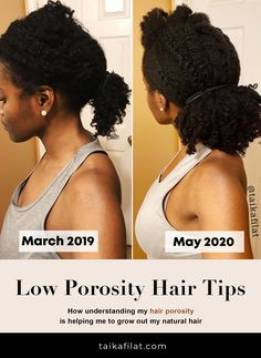 After knowing your natural hair type, hair porosity is the most important factor to consider when creating an effective regimen. Thick Natural Hair, Natural Hair Types, Natural Hair Care Tips, Natural Hair Regimen, Natural Hair Updo, Natural Hair Styles For Black Women, Be Natural, Natural Hair Growth, Styling Natural Hair