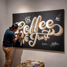 Fantastic coffee mural by @regalisapertura | #typegang if you would like to be featured | typegang.com | typegang.com #typegang #typography