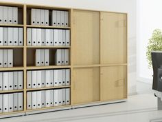 J_SYSTEM Office storage unit with sliding doors by BALMA
