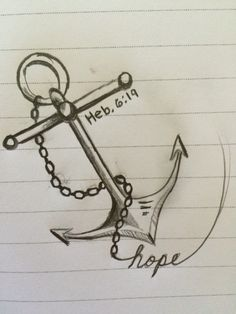 Anchor with chains Hebrews 6:19 hope tattoo idea #tattoo #anchor #anchortattoo #hope