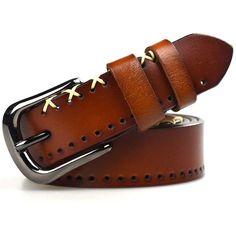 Item Type: Belts Belt Width: 2.7 cm Pattern Type: Geometric Department Name: Adult Style: Casual Gender: Women Buckle Length: 4.8 cm Belts Material: Metal,Cowskin Buckle Width: 4 cm Model Number: SMK-