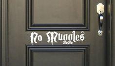 No Muggles Vinyl wall Decal Fantasy geekery geek storybook