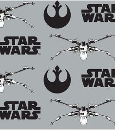 Star Wars VII X Wing Flannel Fabric