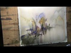 """Watercolor lesson, wet on wet technique without drawing: """"On the way"""""""