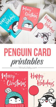 Free Penguin Christmas Card Printables