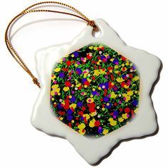 #ornament #homedecor #art #christmas #tree #ceramic #star #amazon #gifts #shopping Amazon.com: DYLAN SEIBOLD - PHOTO ABSTRACTION - RANDOM FLOWER CUBE - 3 inch Snowflake Porcelain Ornament (orn_244520_1): Home & Kitchen