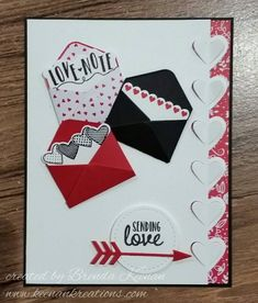 "Quick and Easy Valentine card using ""Sealed with Love"" bundle"