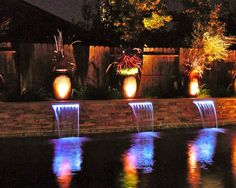 feature lighting ideas. Pool: Water Feature. I Have To This Before Die. Feature Lighting Ideas