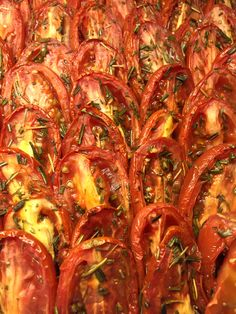 Oven-roasted tomatoes #feelgoodfood #HudsonValley #catering #yum